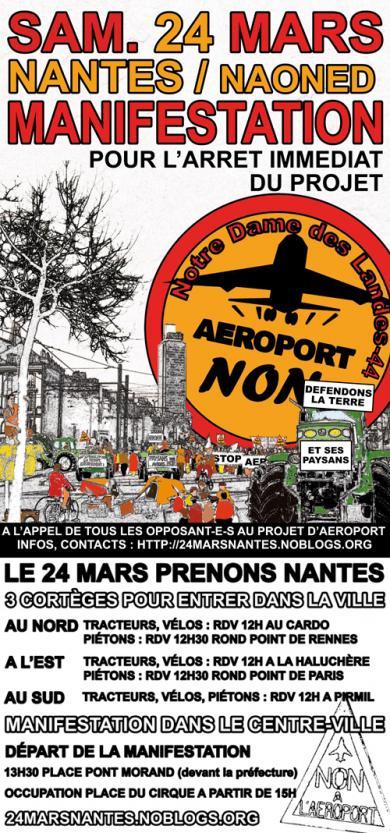Affiche - manifestation du 24 mars 2012